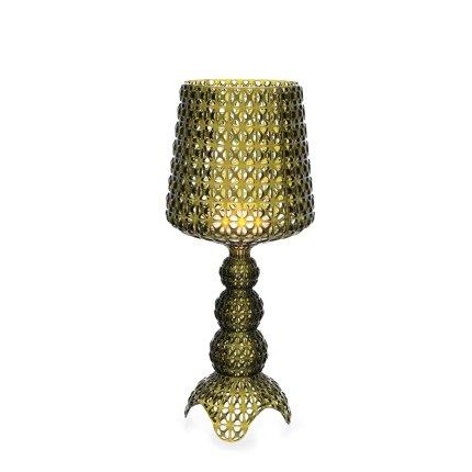Veioza Kartell Mini Kabuki design Ferruccio Laviani, LED 8.4W, h70cm, verde