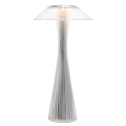 Veioza Kartell Space design Adam Tihany, LED, 15x30cm, crom metalizat