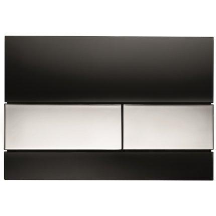 Clapeta actionare Tece Square sticla neagra - crom lucios