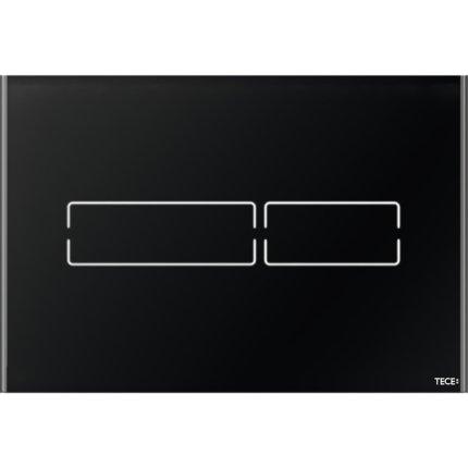 Clapeta de actionare electronica TeceLux Mini sticla neagra