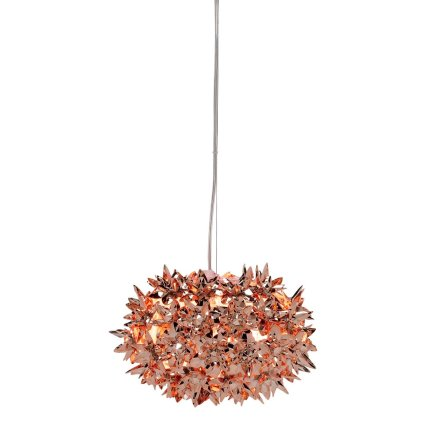 Suspensie Kartell Bloom design Ferruccio Laviani, G9 max 3x33W, d28cm, cupru metalizat