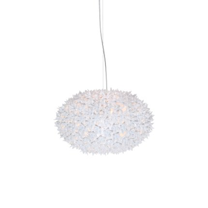 Suspensie Kartell Bloom design Ferruccio Laviani, G9 max 6x33W, d53cm, alb