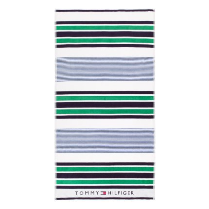 Prosop de plaja Tommy Hilfiger Linear Play 90x180cm, Green