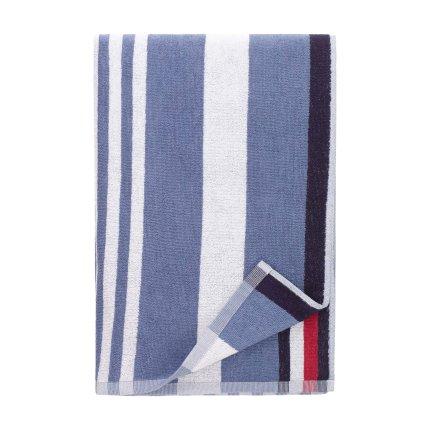 Prosop de plaja Tommy Hilfiger Bleach Denim 90x180cm, Albastru