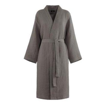 Halat de baie kimono Descamps Evanescence, XL, Argile
