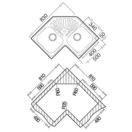 Chiuveta Teka Classic Angular 2B inox microtexturat