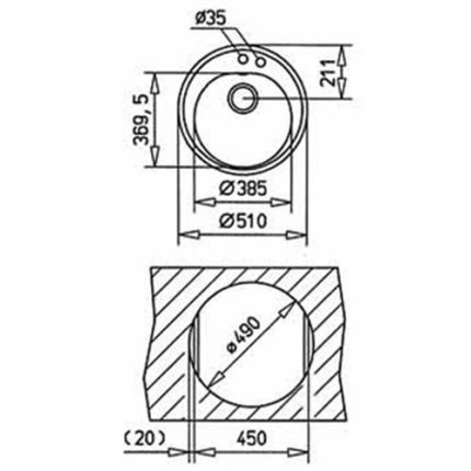 Set Teka Topasbeige: Chiuveta Tegranit Centroval 45 TG, 510 mm + Baterie bucatarie MTP 913 Granit