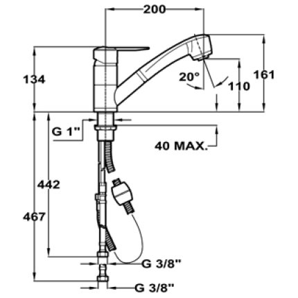 Set Teka Topasbeige : Chiuveta Kea 60B TG 1 1/2B 1D Tegranit 860x435 mm + Baterie MTP 978 Granit cu dus extractibil