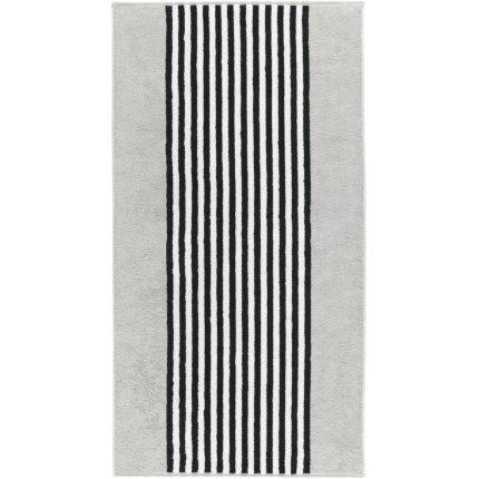 Prosop baie Cawo Black & White Stripes 70x140cm, 76 argintiu