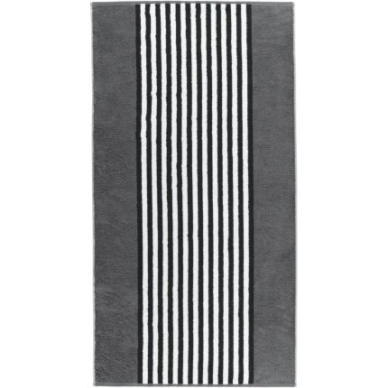 Prosop baie Cawo Black & White Stripes 70x140cm, 77 antracit