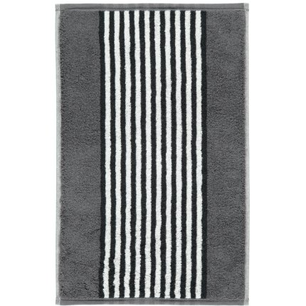 Prosop baie Cawo Black & White Stripes 50x100cm, 77 antracit