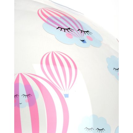 Suspensie Kartell FL/Y kids design Ferruccio Laviani, E27 max 15W LED, d 52cm, h33cm, baloane, transparent