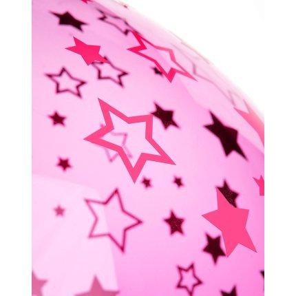 Suspensie Kartell FL/Y kids design Ferruccio Laviani, E27 max 15W LED, d 52cm, h33cm, stele, roz transparent