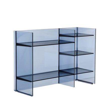 Comoda Kartell Sound-Rack design Ludovica & Roberto Palomba, 75x26x53cm, albastru transparent