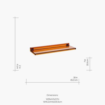 Etajera Kartell by Laufen Shelfish design Ludovica & Roberto Palomba, 45x15cm, maro