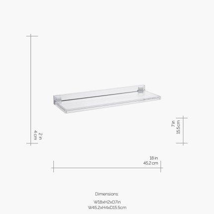 Etajera Kartell by Laufen Shelfish design Ludovica & Roberto Palomba, 45x15cm, transparent
