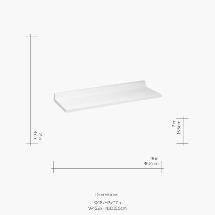 Etajera Kartell by Laufen Shelfish design Ludovica & Roberto Palomba, 45x15cm, alb lucios