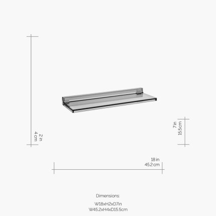 Etajera Kartell by Laufen Shelfish design Ludovica & Roberto Palomba, 45x15cm, gri