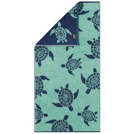 Prosop plaja Cawo Sea Turtle 70x180cm, 41 verde-albastru