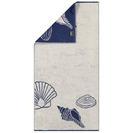 Prosop plaja Cawo Sea Shell 70x180cm, 31 bej-albastru