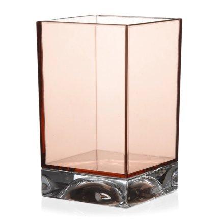 Suport periute dinti Kartell Boxy design Ludovica & Roberto Palomba, roz nude