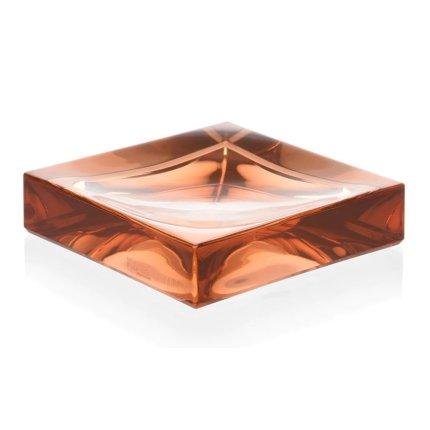 Savoniera Kartell Boxy design Ludovica & Roberto Palomba, roz nude