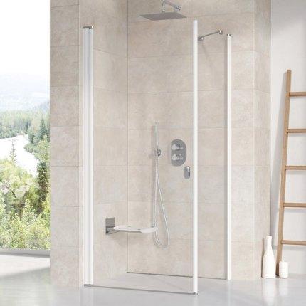 Perete lateral Ravak Concept Chrome CPS-100, 100cm, alb