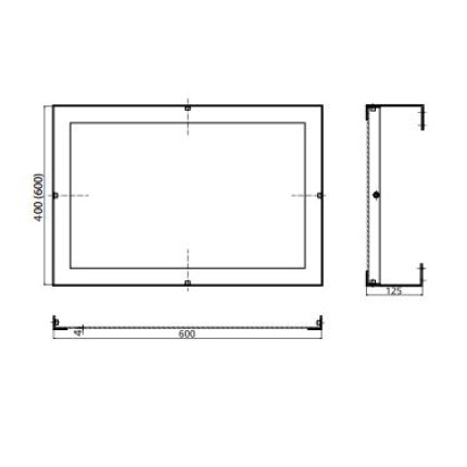 Oglinda pivotanta Bemeta Help 60x60x120 rama inox