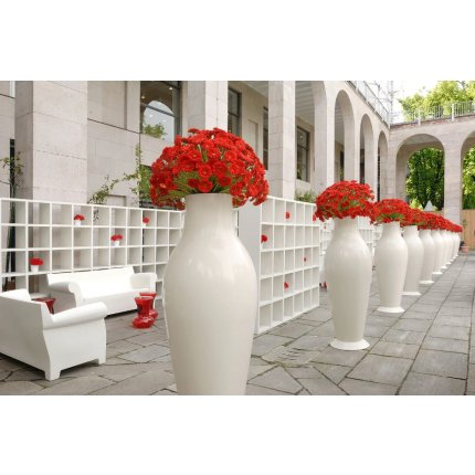 Vaza Kartell Misses Flower Power design Philippe Stark & Eugeni Quitllet, h164cm, negru lucios