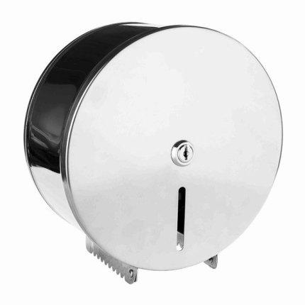 Dispenser rola hartie igienica Jumbo Bemeta Hotel otel inoxidabil periat, cheie, 260 x 270 x 130 mm