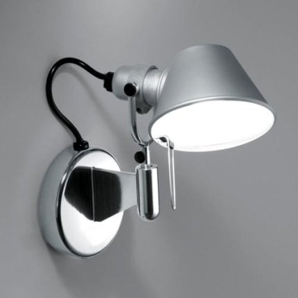 Aplica Artemide Tolomeo Micro Faretto design Michele De Lucchi , Giancarlo Fassina, LED 8W, aluminiu