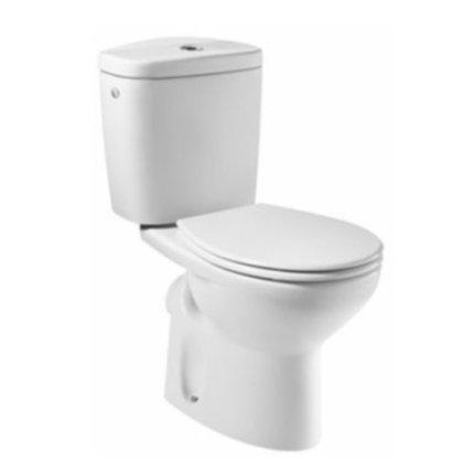 Set complet vas WC Roca Victoria cu evacuare orizontala, rezervor asezat si capac