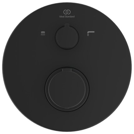 Baterie cada termostatata IdealStandard Ceratherm T100 montaj incastrat, necesita corp ingropat, negru mat