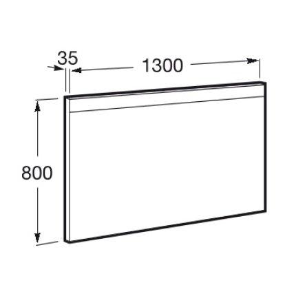 Oglinda Roca Prisma Comfort 130x80cm cu folie antiaburire si iluminare led