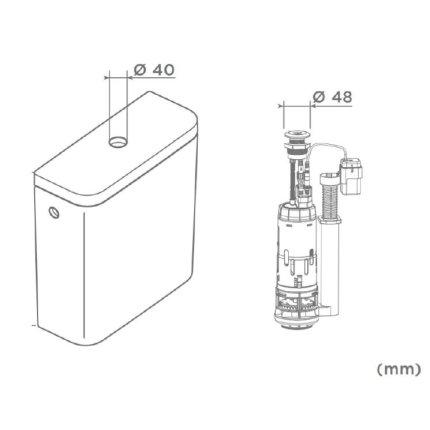 Mecanism cu actionare automata Roca Touchless, Sensor Dual Flush, pentru rezervoare aparente