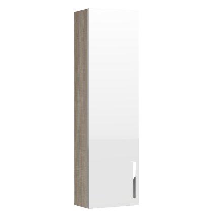 Dulap inalt suspendat Roca Prisma 35x20x120cm, alb/frasin