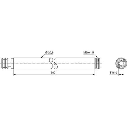 Bara extensie pentru coloane de dus Ideal Standard 300mm