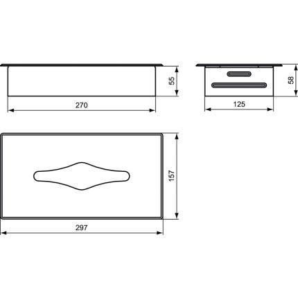 Cutie servetele Ideal Standard IOM cu montaj incastrat, inox