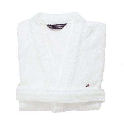 Halat de baie kimono Tommy Hilfiger Plain 3 Alb