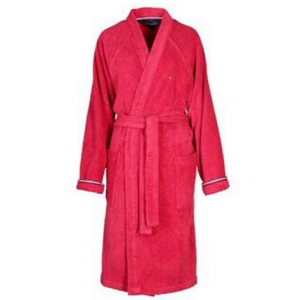 Halat de baie kimono Tommy Hilfiger Plain 3, S, Rosu