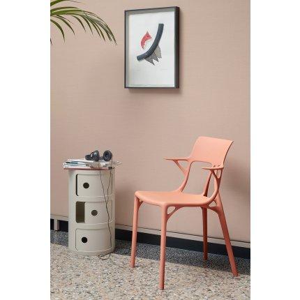 Scaun Kartell A.I. design Philippe Starck, portocaliu