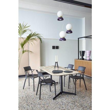 Scaun Kartell A.I. design Philippe Starck, alb