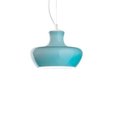 Suspensie Ideal Lux Aladino SP1 D30, 1x60W, 30x35-131cm, albastru