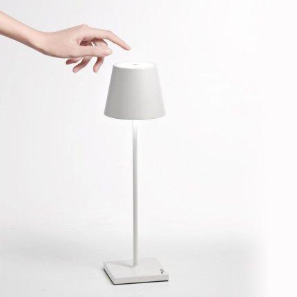 Veioza AiLati Lights Poldina 2.2W LED, d 11cm,  h 38cm, alb