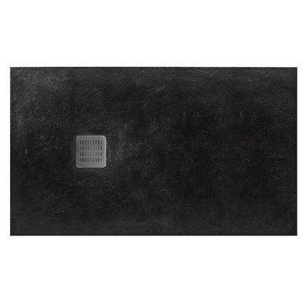 Cadita de dus Roca Terran 100x80cm, Superslim Stonex, negru