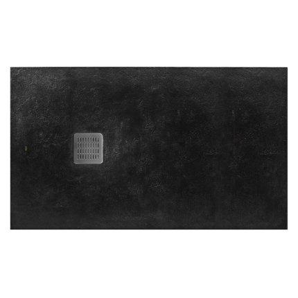 Cadita de dus Roca Terran 140x90cm, Superslim Stonex, negru