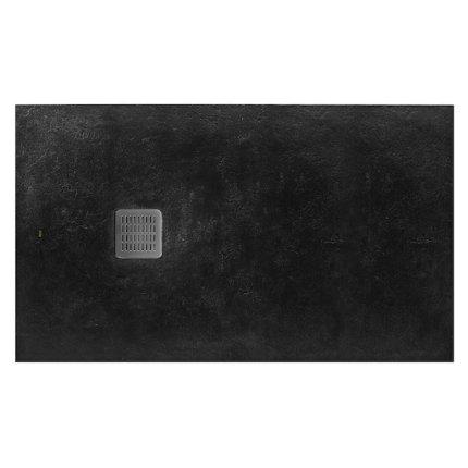 Cadita de dus Roca Terran 160x90cm, Superslim Stonex, negru