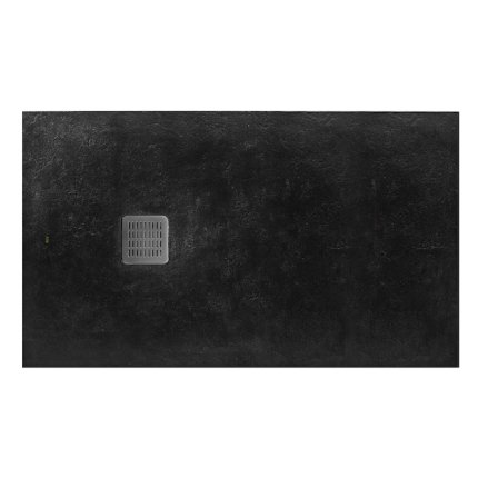 Cadita de dus Roca Terran 180x90cm, Superslim Stonex, negru