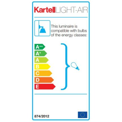 Aplica Kartell Light Air design Eugeni Quitllet, 21x14x17cm, ambra
