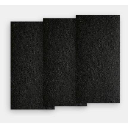 Gresie portelanata rectificata FMG Pietre Ardesia 60x30cm, 9mm, Nera Honed